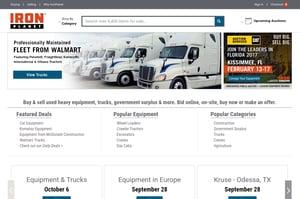 IronPlanet homepage