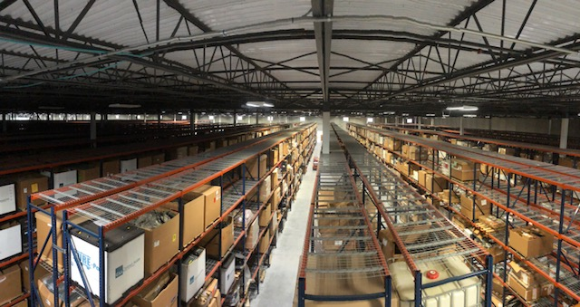 warehouse of non-rolling stock government surplus