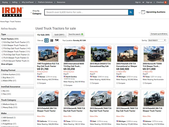 Transport trucks for sale on IronPlanet.