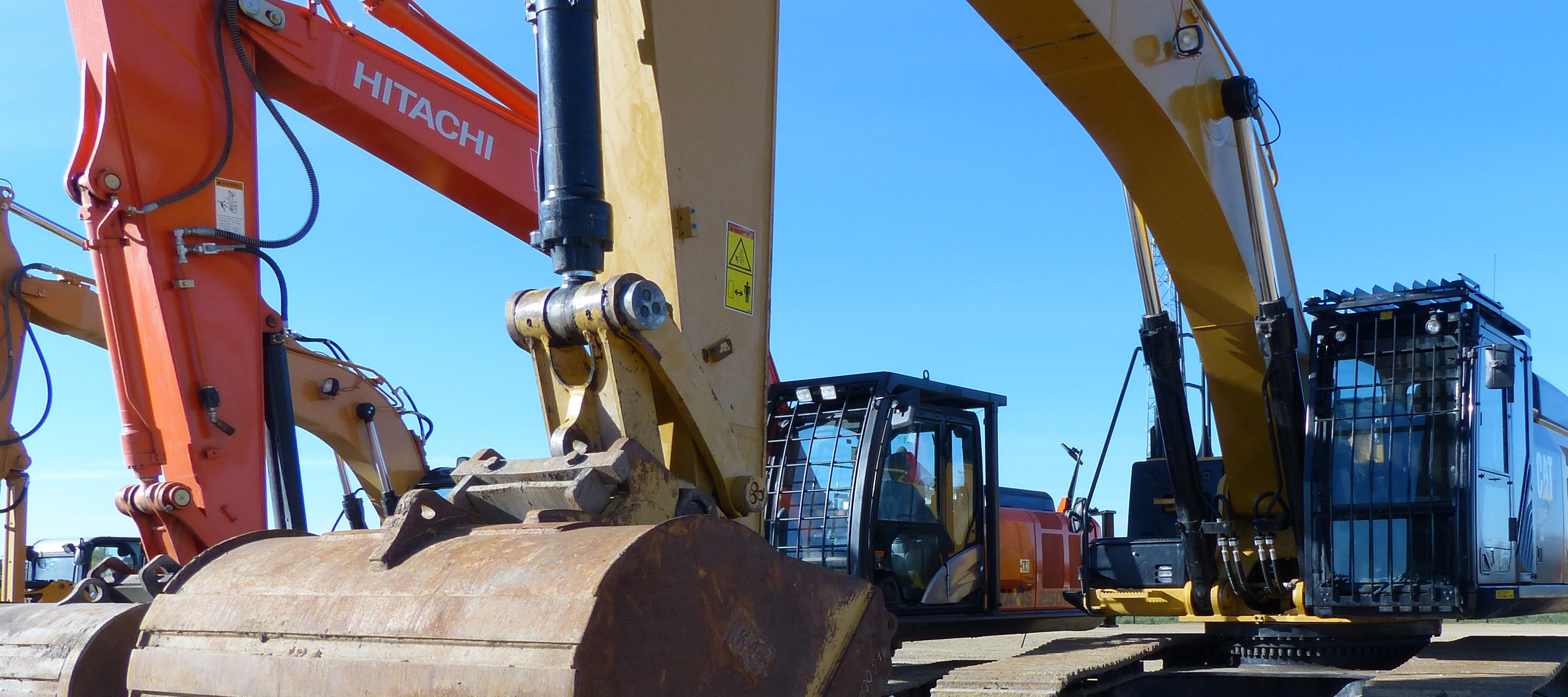 Not just yellow iron: equipment owners can buy and sell all makes of equipment through Cat Auction Services. Consignments are being accepted for the next Edmonton auction, June 22