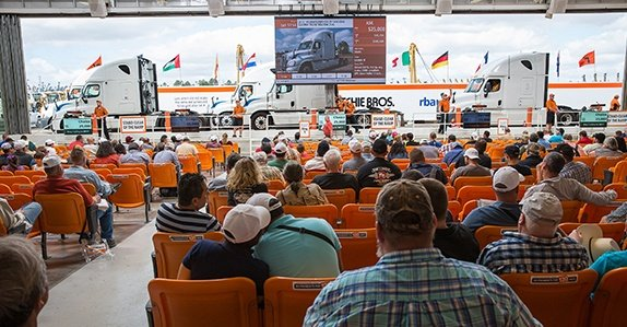 A Ritchie Bros. truck auction.