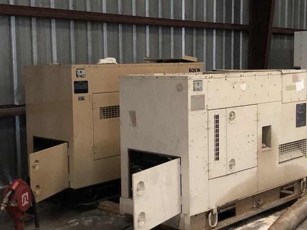 Two GovPlanet generators at the FRWA warehouse.