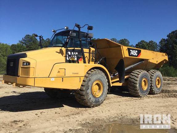 2015 Cat 745C Articulated Dump Truck